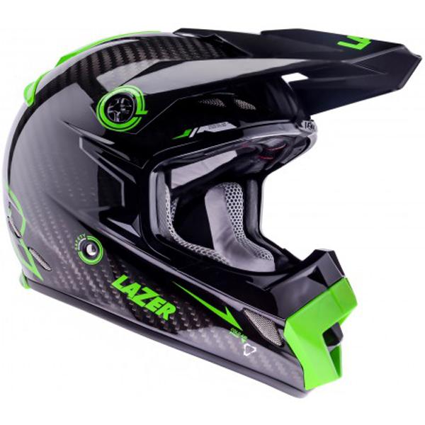 ... -CARBON-TECH-BLACK-CARBON-GREEN-MX-ENDURO-OFF-ROAD-MOTORCYCLE-HELMET
