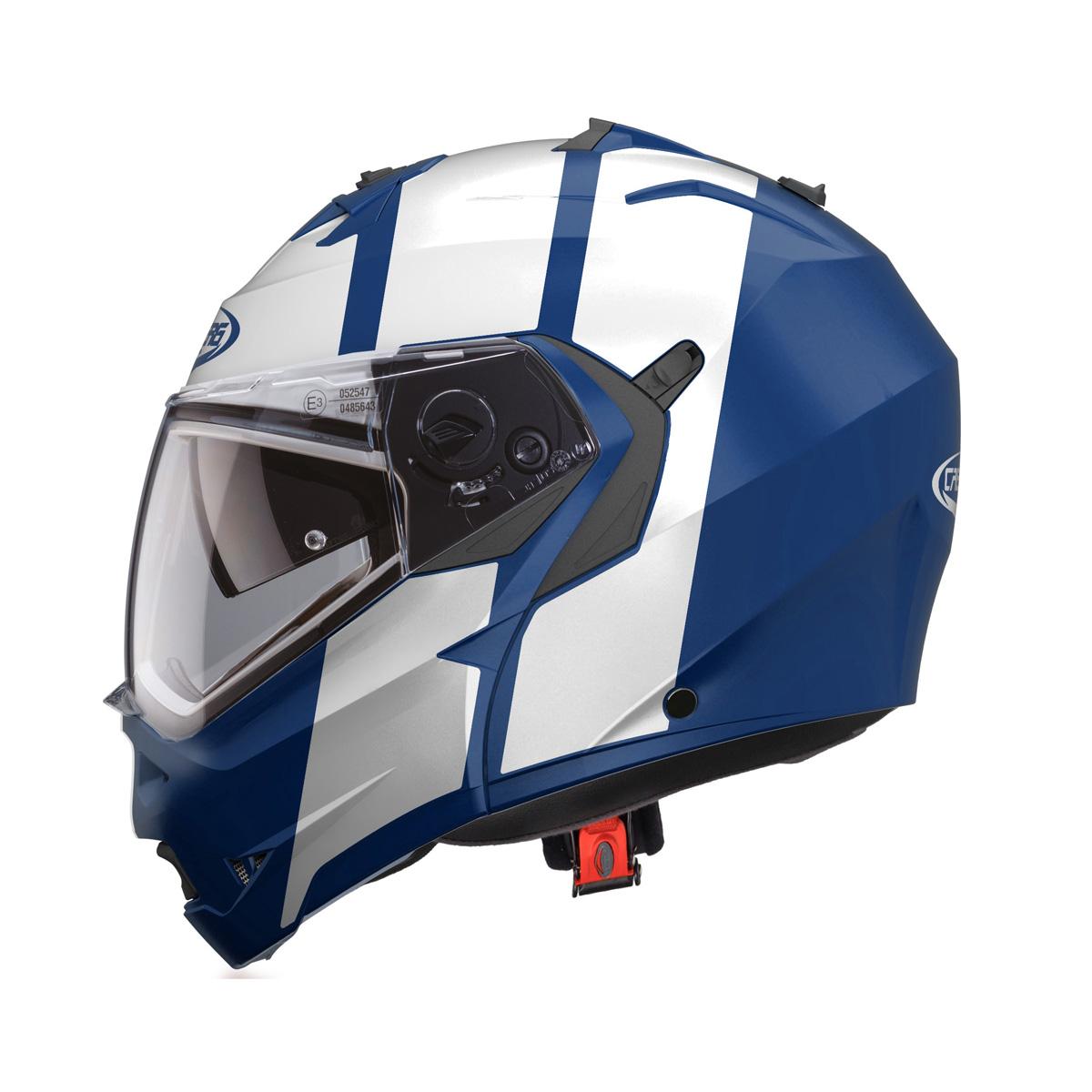 Caberg Duke II Impact Blanc//Bleu//Rouge Casque de Moto Taille S