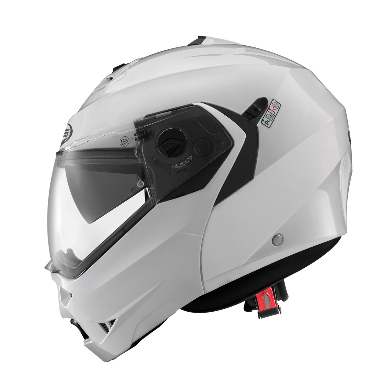 Caberg Duke II Motorcycle Helmet M White Metal